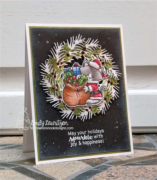 May your holidays sparkle by Emily features Pines and Holly, Seasons of Sentiments, and Santa Paws Newton by Newton's Nook Designs; #newtonsnook