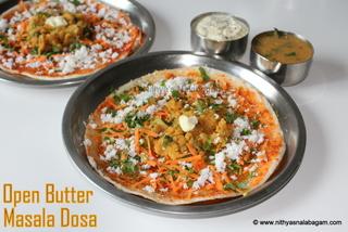 Open butter masala dosa