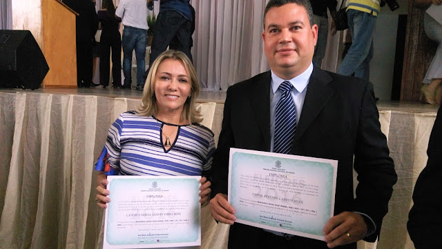 Cândida Leite e Daniel Rezende são diplomados pelo TRE