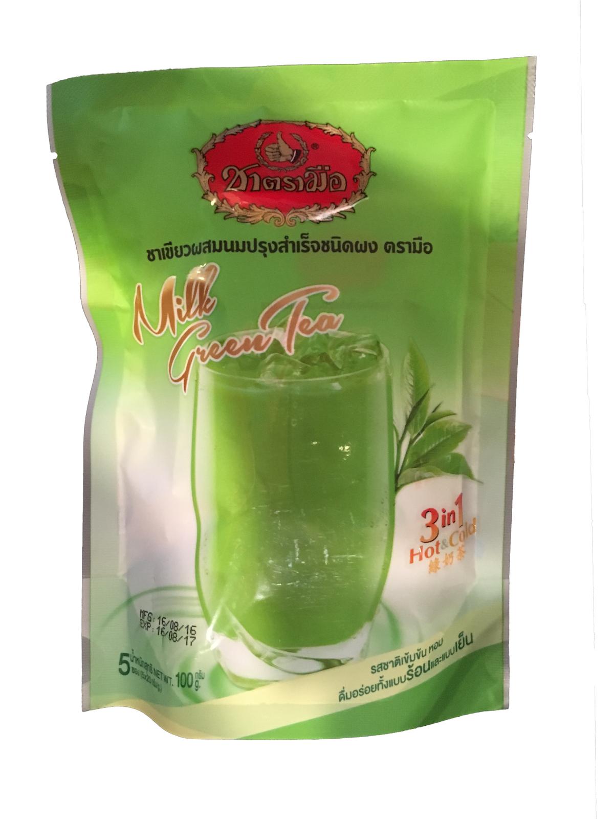 Thai Tea Number One Brand Chatramue Plastik Tenteng Cup Kantong Gelas Harga Green Instant Powder 3 In 1