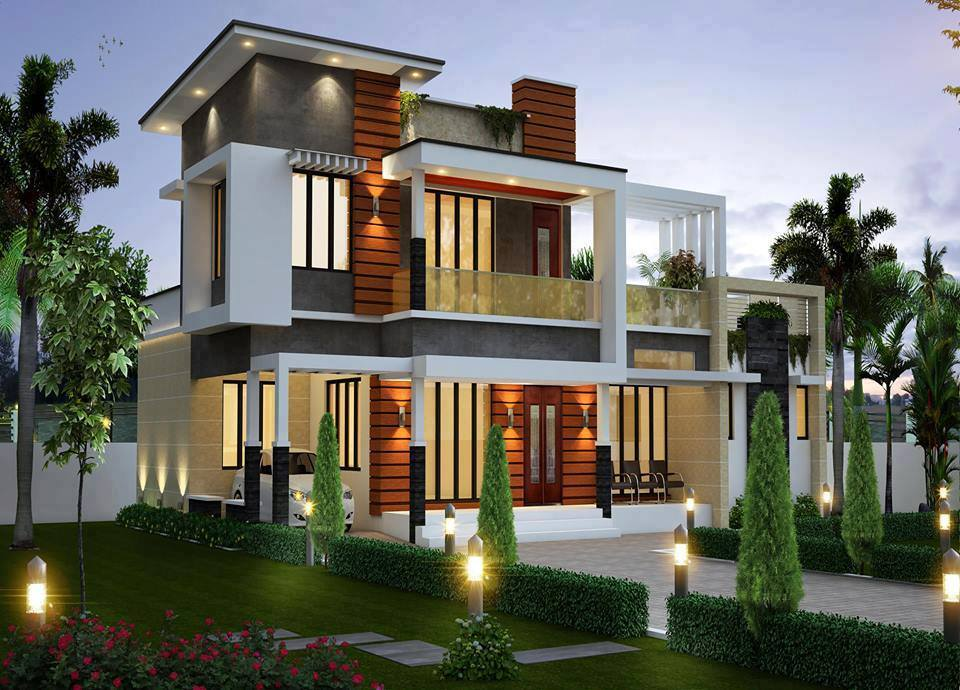 2 storey modern house designs in the philippines bahay ofw for Two story modern house plans