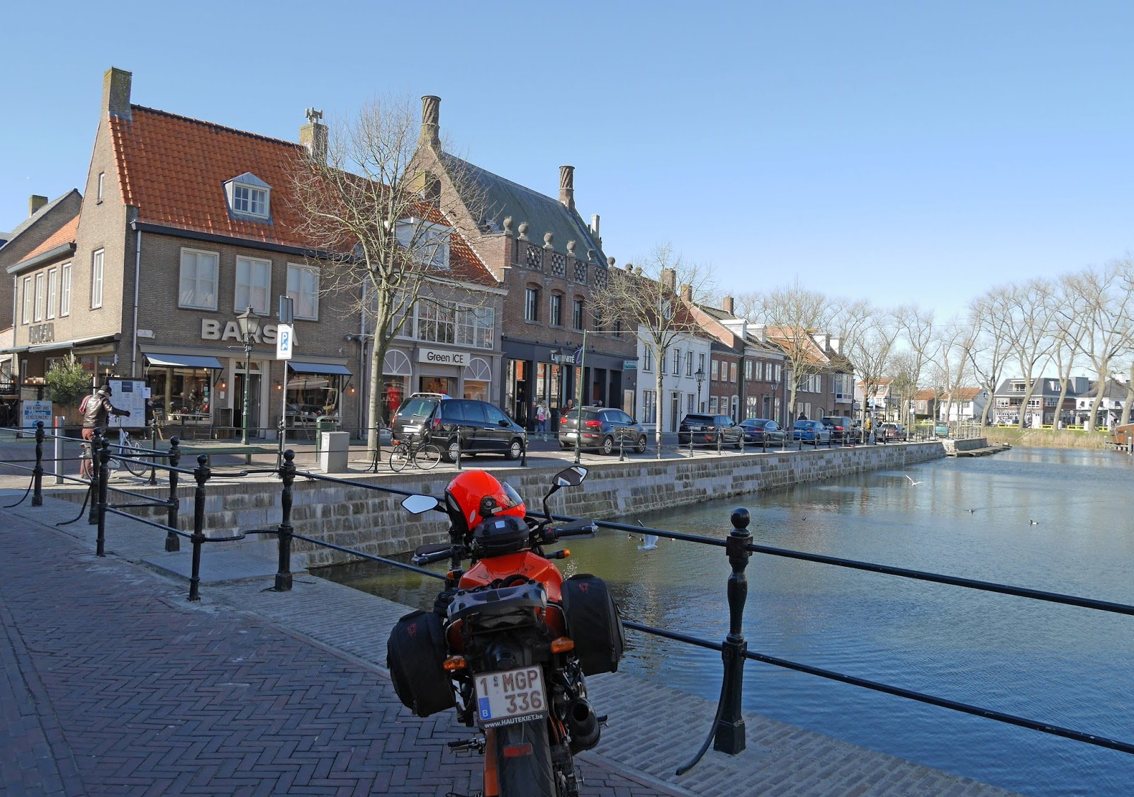 The canal in Sluis, The Netherlands