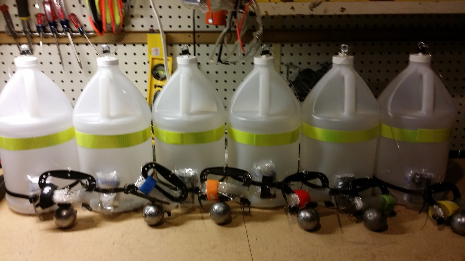 There S The Fleet Of All Six Of Them Ready To Deploy They All Have Working Lights The Weights Are On Them And The Hooks Are Set At Around 4 5 Feet Apart
