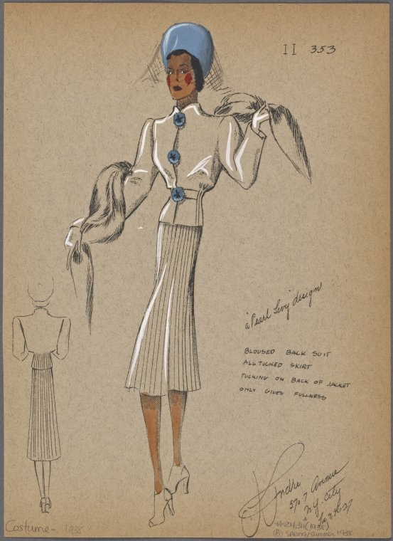 05-Bloused-Back-Suit-New-York-Public-Library-André-Studios-Fashion-Vintage-Illustrations-and-Drawings-from-the-1930s-www-designstack-co