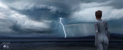 Iray HDRI Storms Lightning and Desert