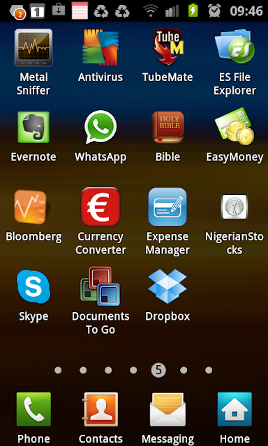metal sniffer, AVG Antivirus, ES file Explorer, Evernote, WhatsApp, Bible, EasyMoney, Expense Manager, Dropbox, SKype, Bloomberg