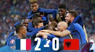 LA FRANCIA FATICA ENORMEMENTE MA ALLA FINE PIEGA L'ALBANIA 2-0