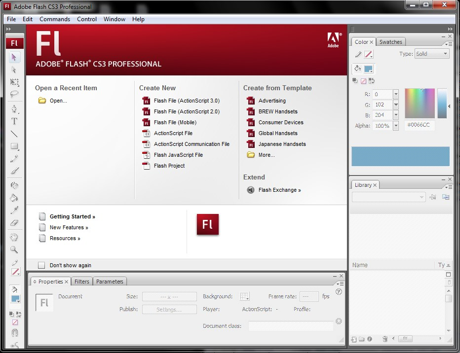 adobe flash cs3 software free download trial version