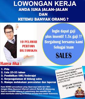 Lowongan Kerja BOBO BAKERY Lampung