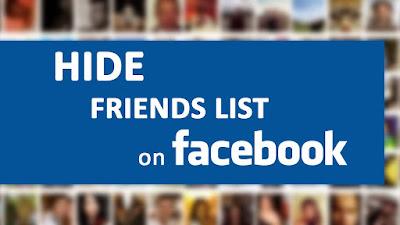 Hide Friend List in Facebook Step By Step