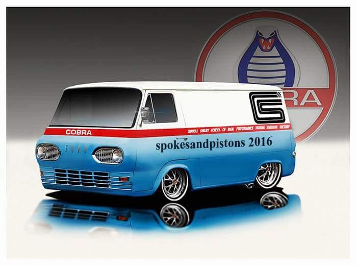 Ken's Shelby themed Econoline custom van @ Remember Butler ... |Shelby Econoline