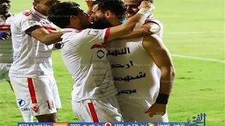 اشتبك حازم إمام لاعب الزمالك مع زميله باسم مرسي في جنوب أفريقيا