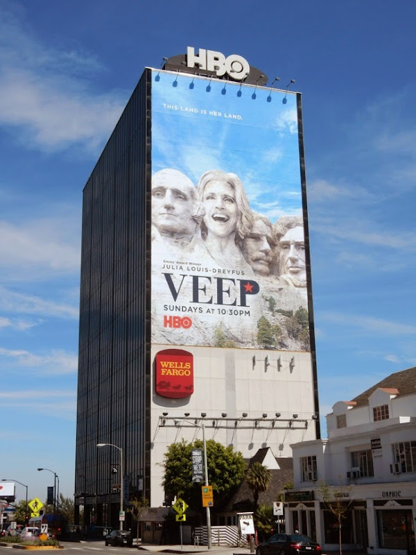 Giant Veep season 4 billboard