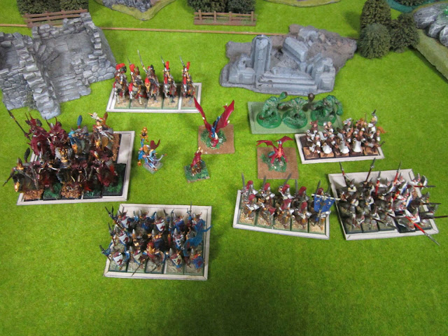ejército pintado Elfos Elves painted army Kings of War KOW by Rubén