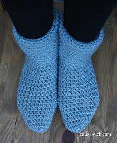 Easy Free Crochet Slipper Boot Pattern  Free Crochet Slipper Boot Pattern