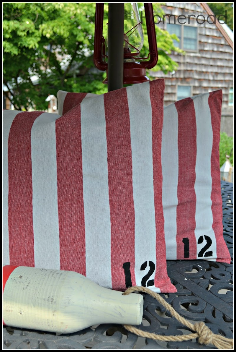 How to Make Your Own Nautical Pillows
