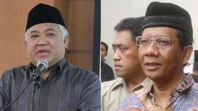 Din Sayamsuddin dan mantan pemerintah Mahkamah qanun Mahfud MD