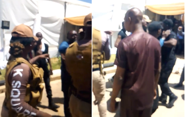 VIDEO: DSS Fights Private Security at Dangote's Daughter's Wedding