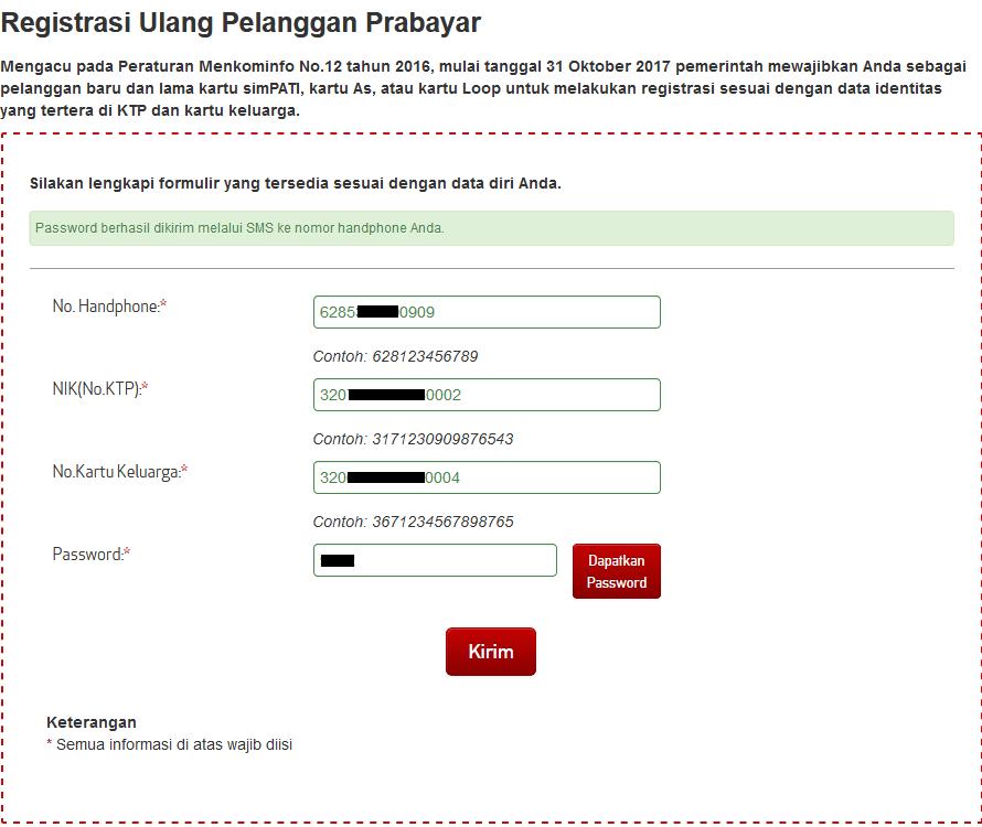 Registrasi Ulang Pelanggan Prabayar Telkomsel