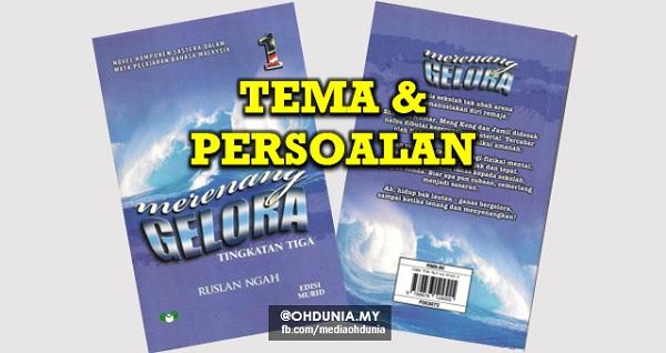 Folio Bahasa Melayu: Novel Merenang Gelora: Tema dan Persoalan