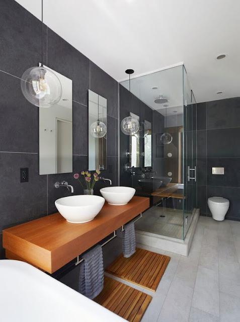 современный дизайн ванной для двух человек