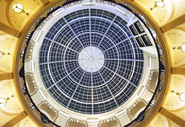 A view from directly below the glass dome on Winter Gardens Blackpool