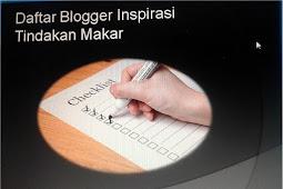 20 Daftar Blogger Inspirasi Tindakan Makar