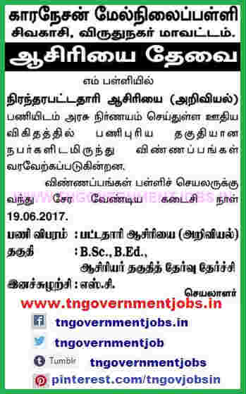 coronation-higher-secondary-school-sivakasi-bt-assistant-teacher-science-post-recruitment-ww-tngovernmentjobs-in