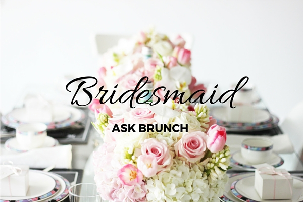bridesmaid ask brunch