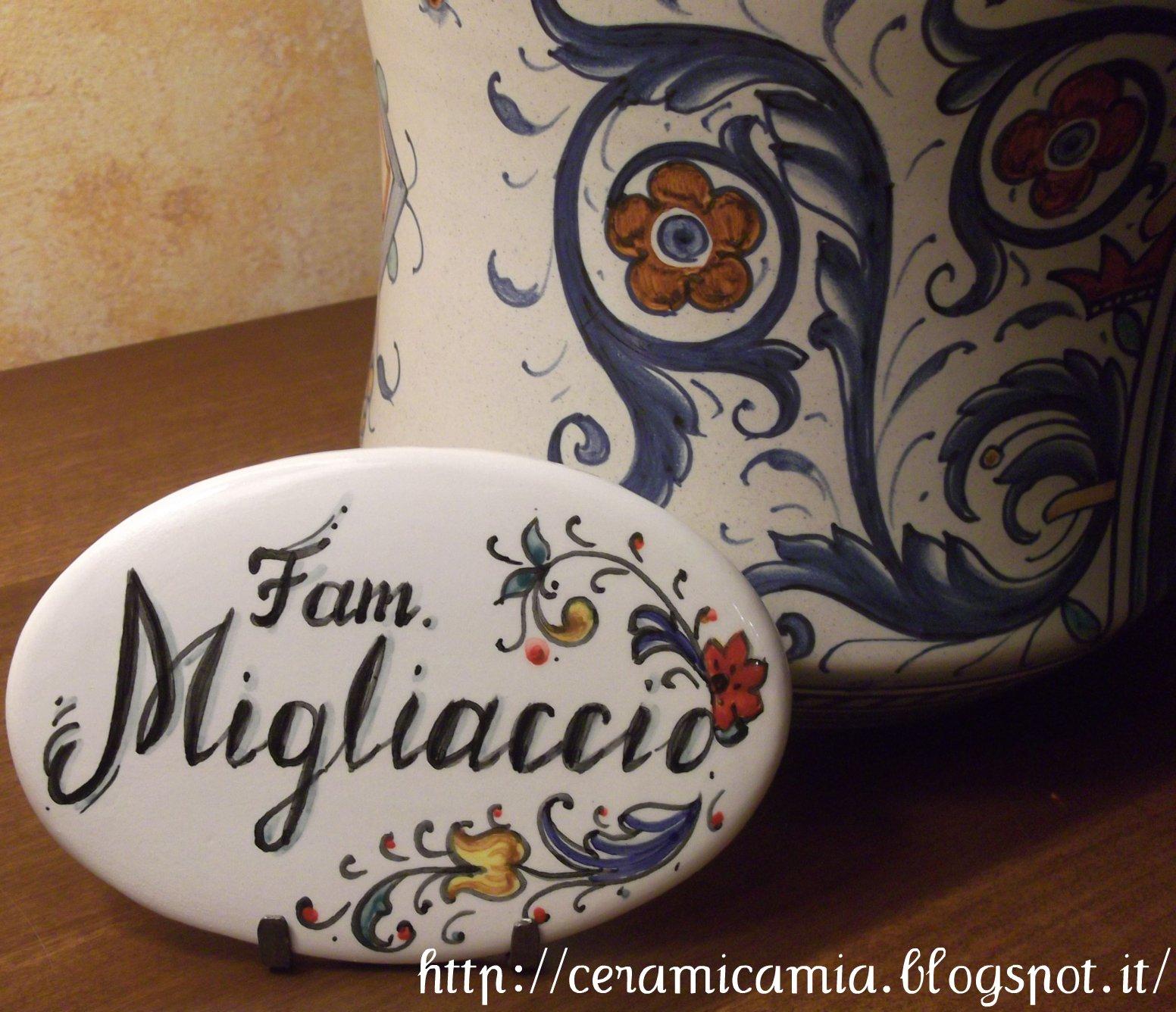 Targhette Per Porte In Ceramica.Ceramica Che Passione Targhetta Per La Porta