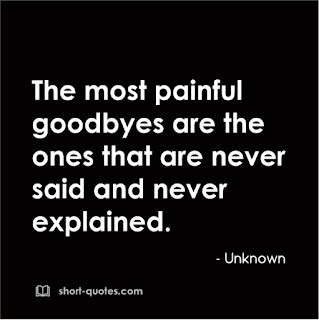 painful goodbyes quote