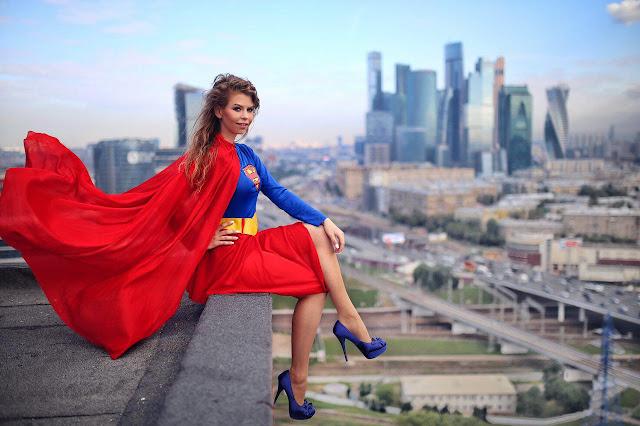 фотосессия на крыше в в костюме супермена My dress stories ninelly
