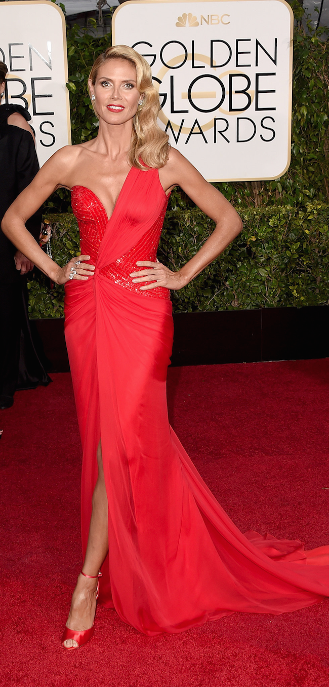 Heidi Klum 2015 Golden Globe Awards