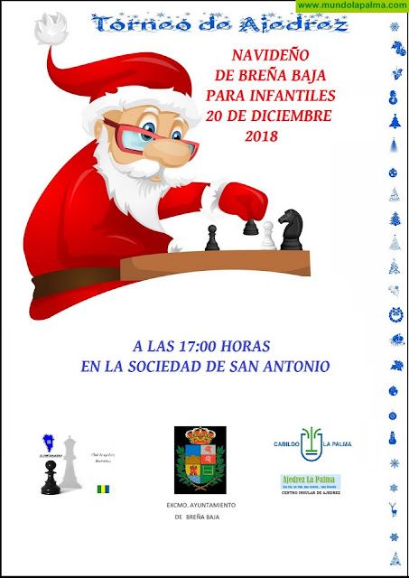 BREÑA BAJA NAVIDAD: V Torneo Infantil Navideño de Ajedrez