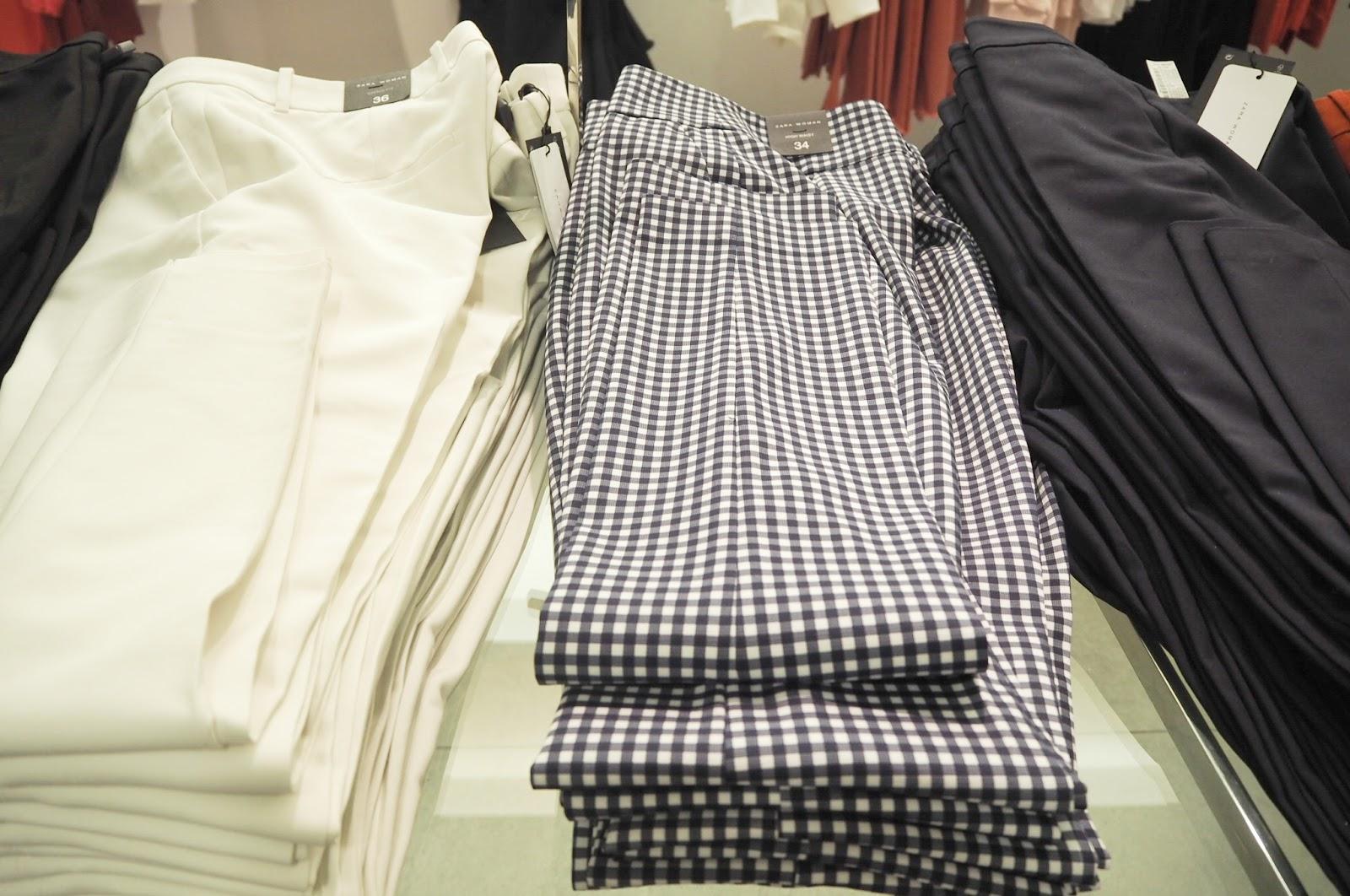 Zara - high-waisted checkered trousers