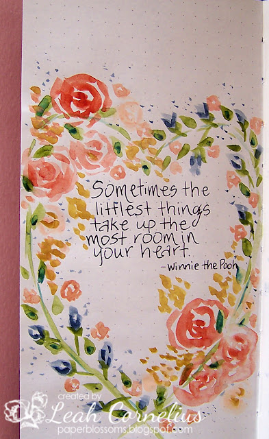 Leah Cornelius, quote, watercolor