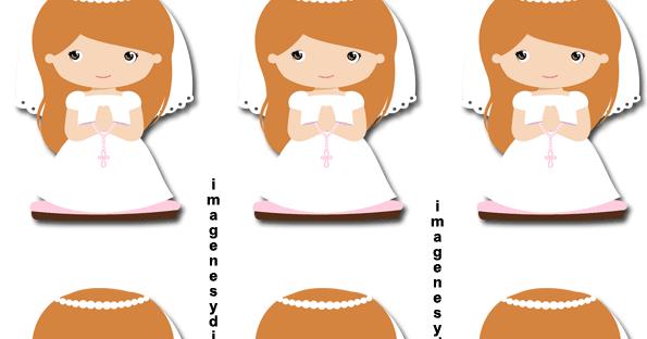 Dibujos De Comunion Para Imprimir Y Colorear: Etiquetas De Comunion Para Niñas
