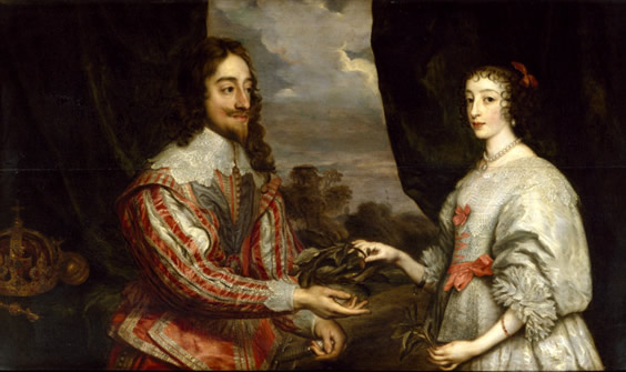 Charles I of England and Queen Henrietta Maria Coques