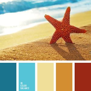 Морские и водные обитатели- гармоничные палитры в 5 цветов