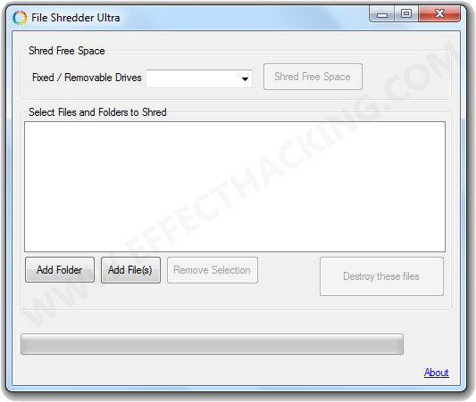 File Shredder Ultra Screenshot
