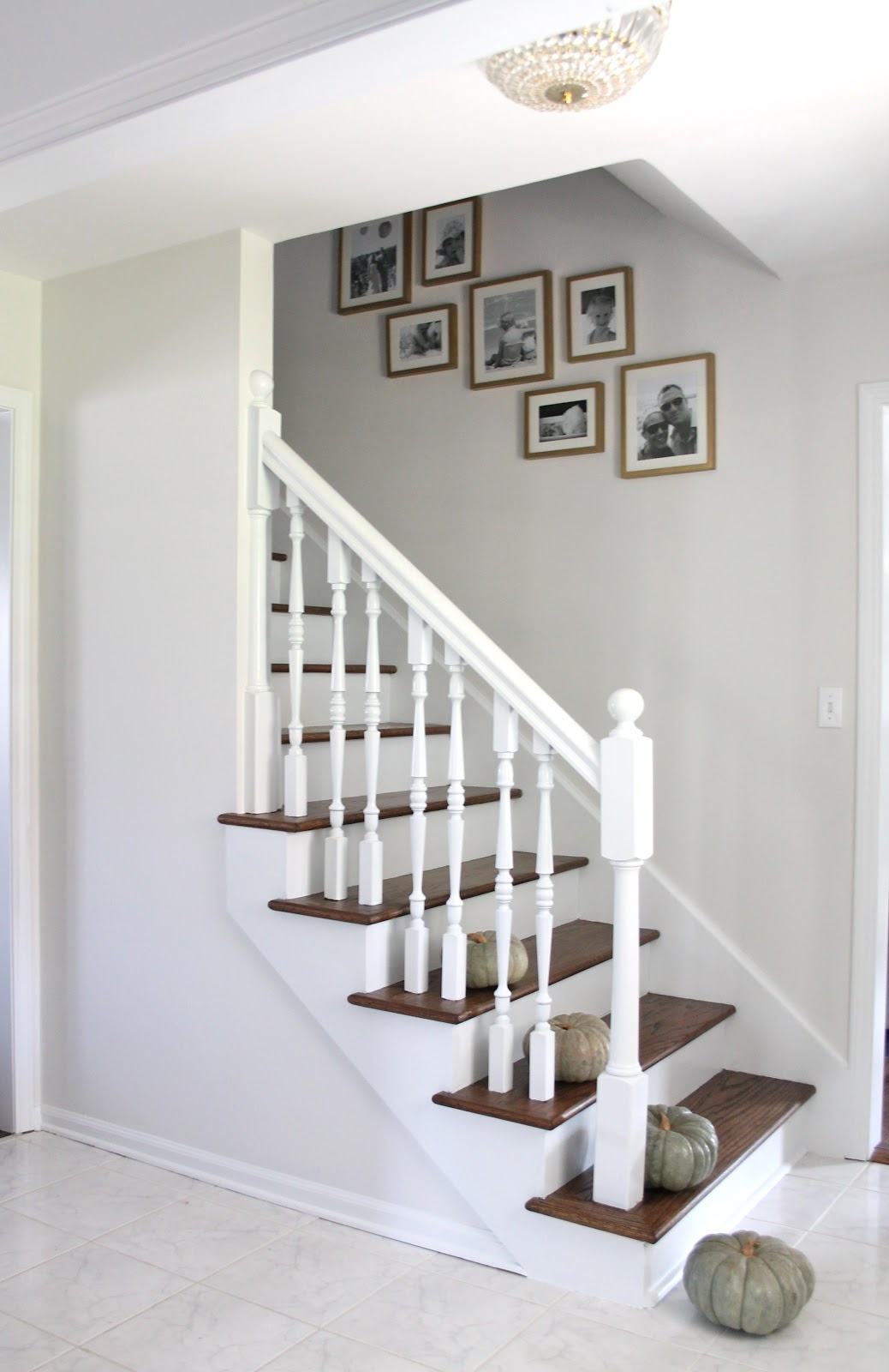 Lighting Basement Washroom Stairs: Stair Makeover Treads And Risers Exposed