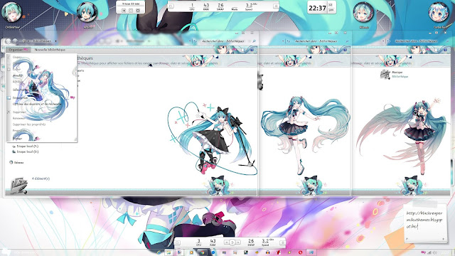 Magical Mirai Theme Win 7 by Andrea_37