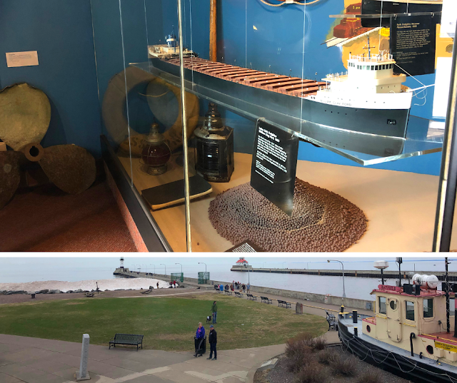 Learning about shipping history and sailing on Lake Superior at  Lake Superior Maritime Visitor Center in Duluth, MN