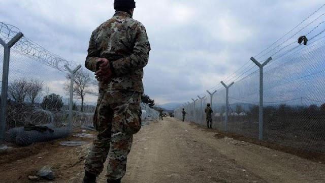 Macedonian soldiers fired warning shots at Macedonia-Greece border