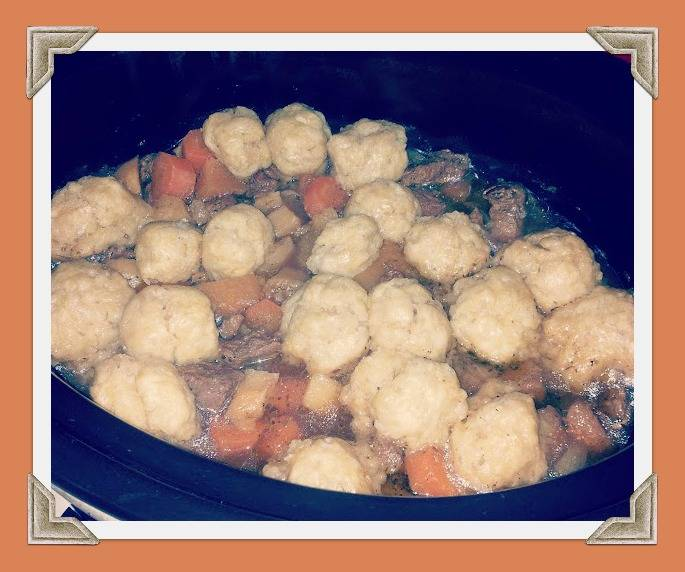 Slow cooked Stew And Dumplings : Creative