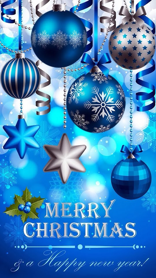Blue Christmas Ball Ornaments   Galaxy Note HD Wallpaper