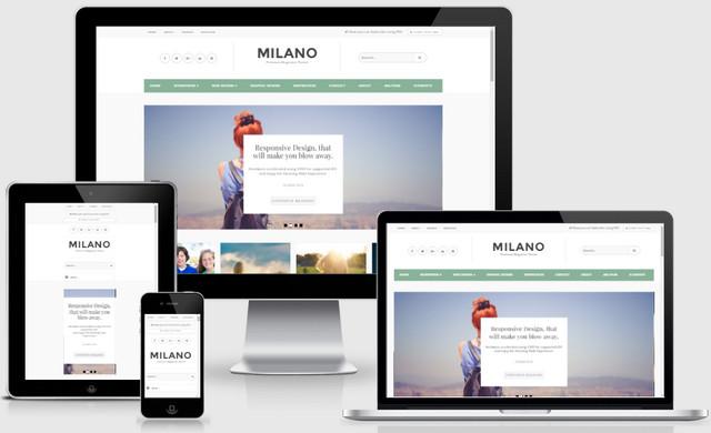 Milano Responsive Blogger Templates