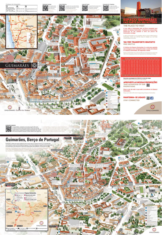 mapa turistico guimaraes Guimarães, Berço de Portugal | anyforms design Blog mapa turistico guimaraes