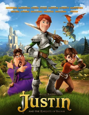 Poster Of Hollywood Film Justin and the Knights of Valour (2013) In 300MB Compressed Size PC Movie Free Download At worldfree4u.com