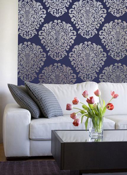 Living Room Wall Paint Stencils  Bestsciaticatreatments